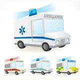Krankenwagenikonen Lizenzfreies Stockfoto