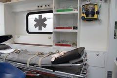 Krankenwageninnenraum Stockbilder