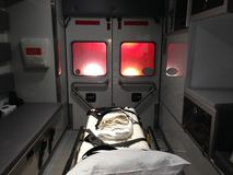 Krankenwageninnenraum Lizenzfreie Stockfotos
