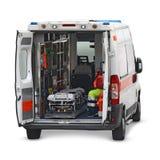 Krankenwageninnenraumausschnitt Lizenzfreies Stockbild