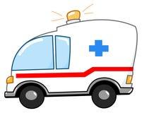 Krankenwagenkarikatur Lizenzfreies Stockfoto