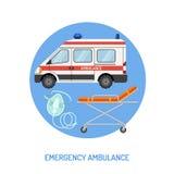 Krankenwagenkonzept des medizinischen Notfalls Lizenzfreies Stockfoto