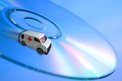 Krankenwagenkonzept - Technologiegesundheitspflege stockfotos