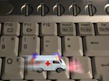 Krankenwagenkonzept - Technologiegesundheitspflege Lizenzfreie Stockfotografie