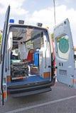 Krankenwagenrückseite Stockfotografie