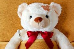 Kranker Teddybär Lizenzfreies Stockbild