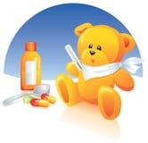 Kranker Teddybär, Medizin Stockfotos