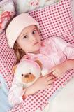 Krankes kleines Mädchen Lizenzfreie Stockfotografie