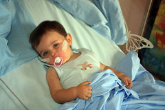 Krankheit in einem Krankenhaus Stockbild