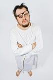 Krankzinnige mens in dwangbuis Stock Fotografie
