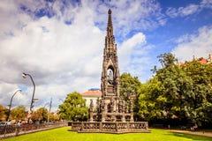 Kranner ` s fontanna w Praga, republika czech obraz stock