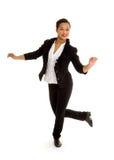 Kranowa Dancingowa dziewczyna w akci zdjęcie royalty free