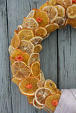 Krans av torkade frukter Arkivfoton