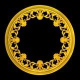 krans för guld 3d Arkivbild