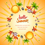 Krans för Hello sommarsol Arkivbilder