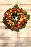 Krans med frukt Royaltyfria Bilder