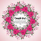 Krans med rosa rosor Arkivbild