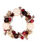 Krans som dekoreras med den pappers- blomman Royaltyfri Fotografi