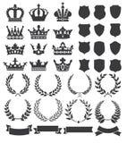 Kransar och kronor Royaltyfria Bilder