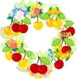 Kransen av körsbär stock illustrationer