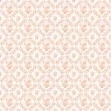 Kransrosor och fans för aprikos upprepar rosa antika bakgrund Arkivbild