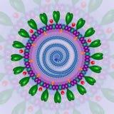 Kransvirus Bakgrund 10 eps Arkivbilder