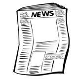 Krant royalty-vrije illustratie