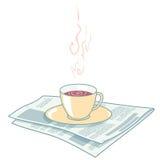 Krant en koffie Royalty-vrije Stock Afbeelding