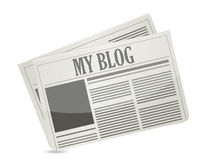 Krant met mijn blogtekst Royalty-vrije Stock Foto's
