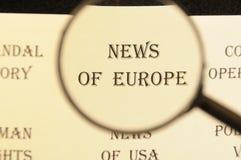 Krantekop voor krant voor artikel` Hete gebeurtenissen ` Stock Afbeelding