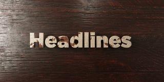 Krantekoppen - grungy houten krantekop op Esdoorn - 3D teruggegeven royalty vrij voorraadbeeld stock illustratie
