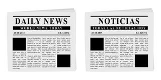 kranten royalty-vrije illustratie