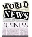 Kranten met het Exemplaar van Lorem Ipsum vector illustratie