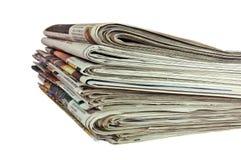 Kranten (met het knippen van weg) Stock Foto's