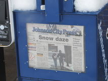 Krantenkrantekop Royalty-vrije Stock Foto