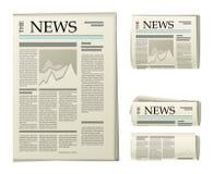 Krantenpictogrammen Royalty-vrije Stock Foto