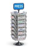 Krantentribune Stock Foto's