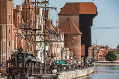 Krantor, Old granary Gdansk, Danzig. Stock Photography