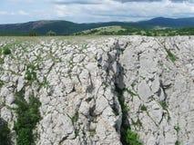 Krantz of AI-Petri plateau closeup, Crimea Stock Images
