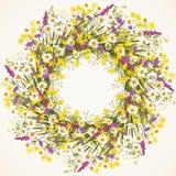 Kranz der wilden Blume Stockfotografie