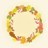 Kranz des Herbstlaubs Lizenzfreies Stockbild