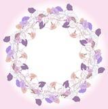 Kranz mit blauer violetter Winde Stockfoto
