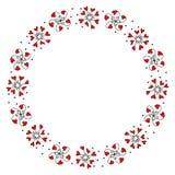 Kranz mit dekorativen Blumen von Herzen Lizenzfreie Abbildung