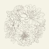 Kranz von schönen Sommerblumen. Stockfotos