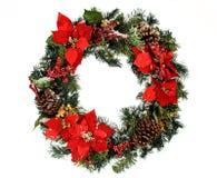 Kranz: Weihnachtskranz mit Schnee Lizenzfreie Stockfotografie