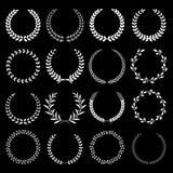 Kranzrahmen-Vektorillustrationen stock abbildung