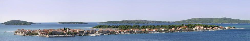Krapanj panorama. Panorama of Krapanj, island of Croatia royalty free stock photography