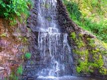 Krape公园瀑布伊利诺伊 图库摄影