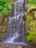 Krape Park Waterfall Illinois. Waterfall flowing at Krape Park in northern Illinois Royalty Free Stock Photo