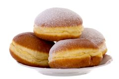 Krapfen柏林人Pfannkuchen俾斯麦油炸圈饼 免版税库存图片